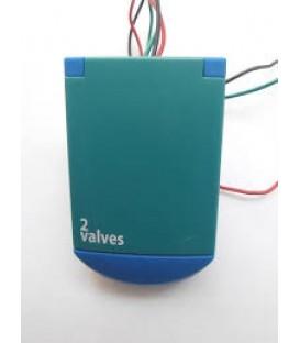 Programador de riego a pilas BACCARA G75 a pilas (9v) de 2 estaciones.