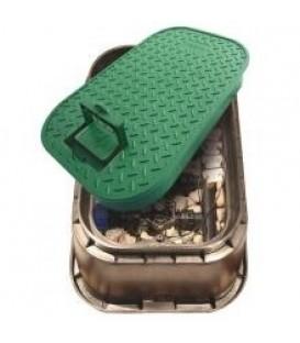 Arqueta 5-6 válvulas. 635x463x305mm. Con tirador