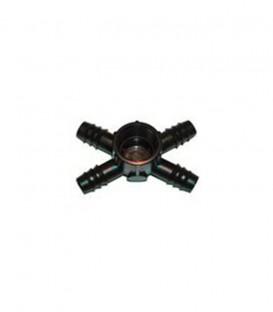 "Conector cuádruple rosca hembra 4x16mm-3/4"""