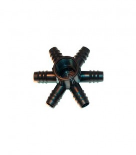 Conector sextuple rosca hembra 6 x20 mm-1""