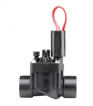 "Electroválvula de riego PGV-101G-B 1"". RH. PVC solenoide 24 VAC. regulador de caudal.H"