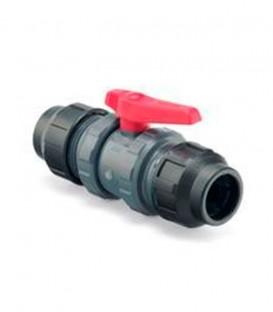 Válvula de esfera PVC fitting-fitting Ø 40 mm