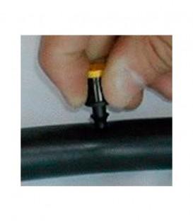 Toma manométrica para insertar en tubería de PE de 16 mm.