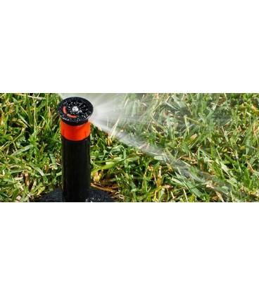 Difusores de riego HUNTER PSU-02-10A. Alcance 3 m. Regulable de 0º a 360º. Emergente 5 cm.