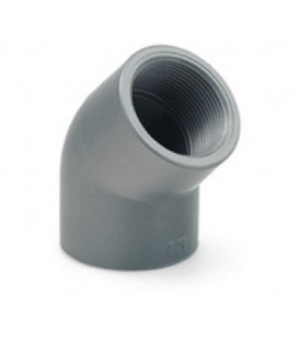 "Codo PVC 45º Encolar Rosca Hembra 40x1 1/4"""