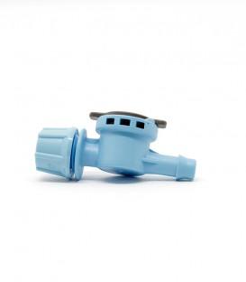 FLF Nebulizador, 1 salida, conexión dentada, 5,40 l/h, azul claro, 10 uds