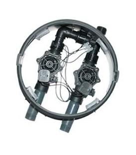 Arqueta de riego con 2 electroválvulas Hunter