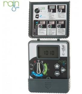 Programador de riego Rain C-Dial Pro Interior 24V 6 Estaciones
