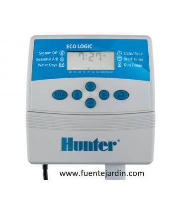 Programadores de riego Hunter ECO-LOGIC. (4 estaciones. Interior)