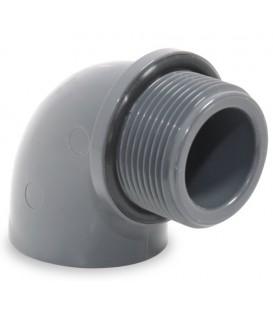 """Codo PVC 90º encolar R / M 50-11/2"""""""