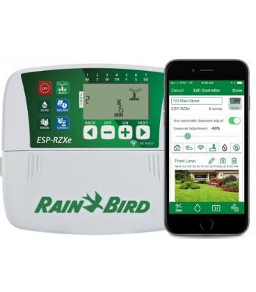 Programador de riego Rain Bird ESP-RZXe, 4 estaciones, interior.