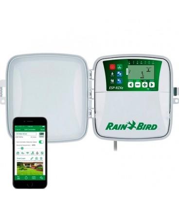 Programador de riego Rain Bird ESP-RZXe, 4 estaciones, exterior.