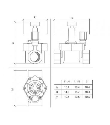 Electroválvulas para riego 24 Vac