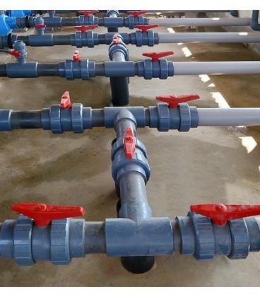 Válvula de bola PVC encolar Ø 140mm Hidroten