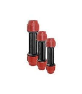 Enlace recto antirretorno 25x210x95 para tubería de polietileno.