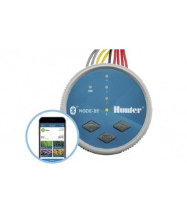 Programador de riego a pilas HUNTER NODE-BT 400 - 4 estaciones. Hunter (No incluye los solenoides)