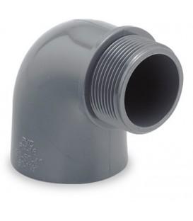 "Codo PVC 90º encolar R / M 50-11/2"" s/junta"
