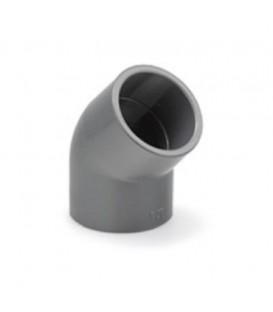 Codo PVC 45º Encolar 50 mm