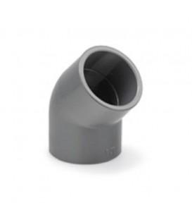 Codo PVC 45º Encolar 75 mm