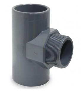 """TE 90º PVC presión mixto 50X1 1/2"""" RM"""