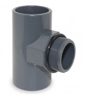 """TE 90º PVC presión mixto 50X1 1/2"""" RM con junta"""