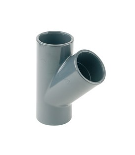 Te PVC 45º Encolar Ø 75 PVC