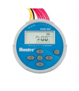 Programador de riego a pilas HUNTER NODE 600 - 6 estaciones. Hunter (No incluye los solenoides)
