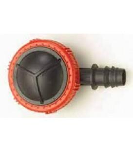 Válvula de lavado final línea 16 mm PE Dentado + Clip
