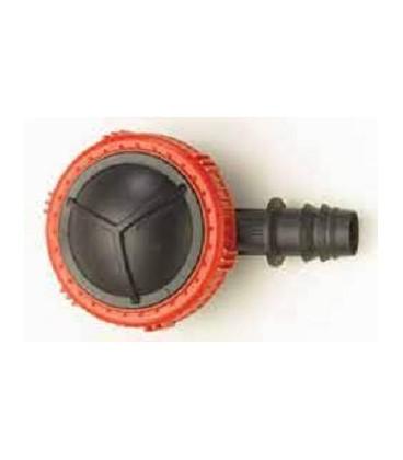 Válvula de lavado final línea 20 mm PE Dentado + Clip