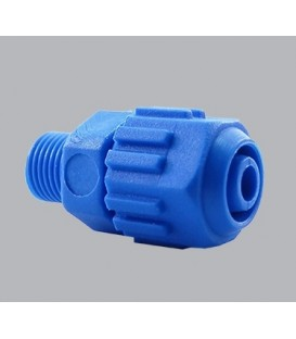 """Conector rosca macho 1/4"""" - 6mm. Mando hidráulico."""